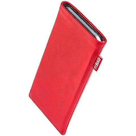fitBAG Beat Rosso - Custodia per cellulare per Palm Pre, in pelle nappa con imbottitura in microfibra - Palm Pre In Pelle