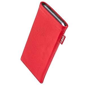 fitBAG Beat Rot Handytasche Tasche aus Echtleder Nappa mit Microfaserinnenfutter für HTC One M7