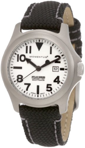 Momentum Ladies 1M-SP01W14B Atlas White Dial Black Snowboard Nylon Watch