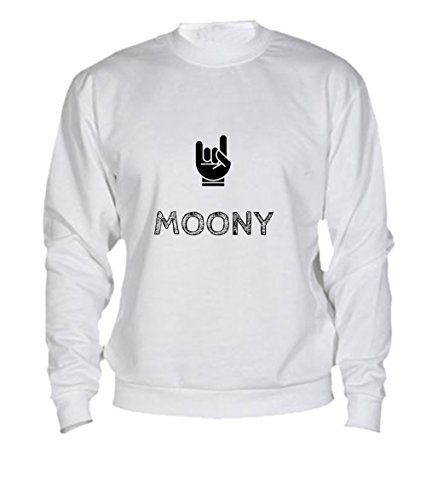Felpa Moony - Print Your Name White