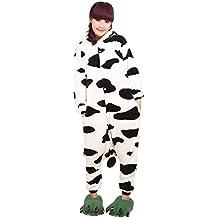 Molly Kigurumi Pijamas Traje Disfraz Animal Adulto Animal Pyjamas Cosplay Homewear Vaca M