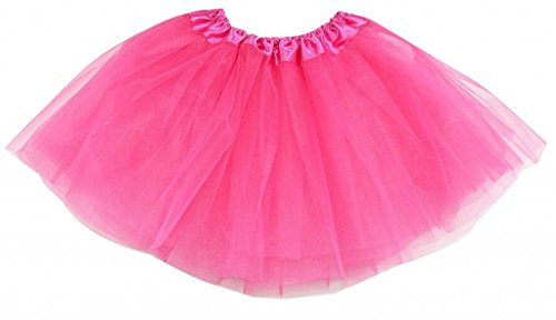 , Organza, Ballett Tütü Mini Rock Layered, Rosa, one size (Ballerina Kostüm)