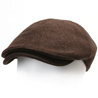 ililily Flex-fit Flat Cap Wool Vintage Cabbie Hat Gatsby Ivy Cap Irish Hunting Hats Newsboy Hat (flatcap-516-4-BN)