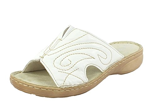 6913 Marco Tozzi Leder Pantolette weiß Weiß wyelimrY