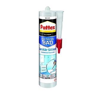Pattex 9H PFDBW Sanitär Silikon (für Dusche und Bad, Kartusche mit 300 ml) weiß