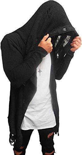 Oversize DESTROYED Designer Sweat Jacke Cardigan Hoody Pullover Shirt Herren Hoodie Longsleeve m NEU Kapuzenpullover long Sweatjacke skater hip hop Sweatshirt Pulli