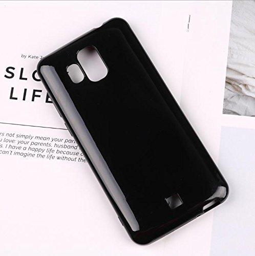 Easbuy Handy Hülle Soft Transparent TPU Silikon Case Etui Tasche für HOMTOM S7 Smartphone Bumper Back Cover Handytasche Handyhülle Schutzhülle