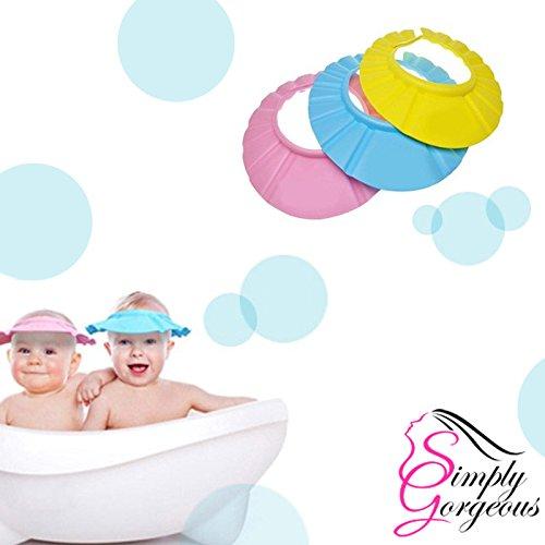 XSM 1/PCS/R/églable/Bonnet/De/Douche/Laver/Bouclier/De/Cheveux/Baigner/Prot/éger/Bonnet/pour/Enfants