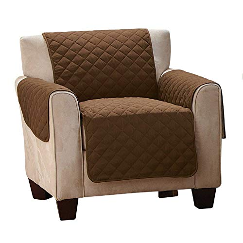 chte Gesteppte Sofabezüge für Hunde Haustiere Kinder rutschfeste Couch Sessel Kissen Bezüge Sessel Möbel Schutz 1/2 / 3 Sitze, braun, 3 Seat ()