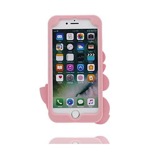 "iPhone 6S Hülle, TPU Gel Shell für Mädchen Handyhülle iPhone 6 / 6s Cover 4.7""- Lovely 3D Cartoon Kaktus rot Blume, Anti-Schock-Kratzer Pink 1"
