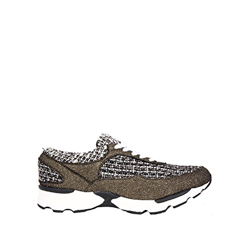Jeffrey Campbell Women's Run Walk Tweed Gold Sneakers Gold