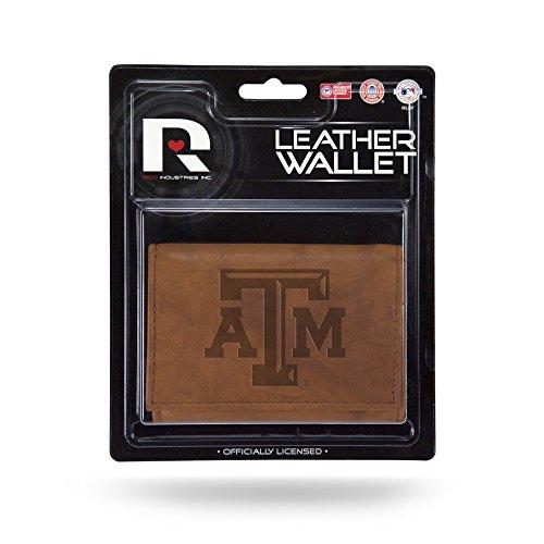 Unbekannt Rico Herren NCAA Texas A & M Aggies geprägtes Leder Trifold Wallet, Tan, 12,7x 7,6cm -