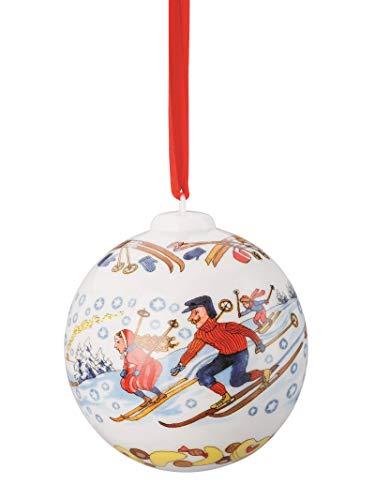 Hutschenreuther Weihnachtskugel 2018 Porzellan - Motiv Winterfreuden - OVP