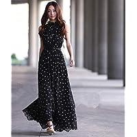 Zan Ya Black Chiffon Casual Dress For Women