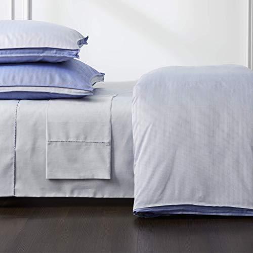 Robert Graham Home Bettbezug mit Fischgrätmuster, Iris Queen Blau - Iris Blue (Queen Bettwäsche Royal Blue)