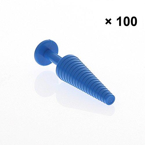 100 Katheterstopfen Verschlussstopfen mit Griff zum Verschließen von Katheter, Schlauch, 100 Stück (Schlauch-griff)