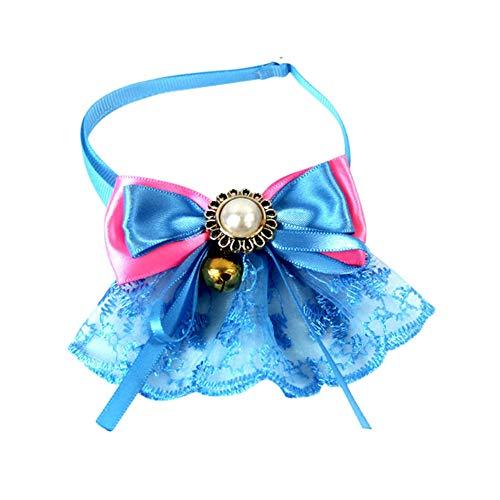 Kostüm Tie Bow - Savlot Hund Fliege, Hund Halskette Haustier Kostüm Zubehör Retro Lace Bow Tie verstellbaren Kragen Welpen Bowtie Kragen Katzen Halskette