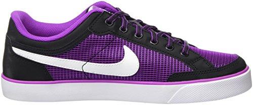 Nike Mädchen Capri 3 Txt Skateboardschuhe Schwarz (Black/White-Hyper Violet)