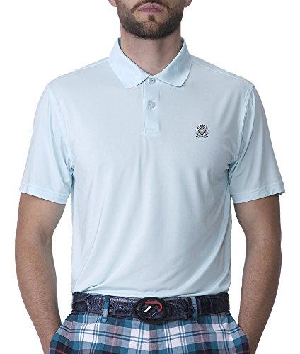 IJP Design Herren Featherweight Crest Golf Shirt Blau blau L (Golf Crest Shirt)