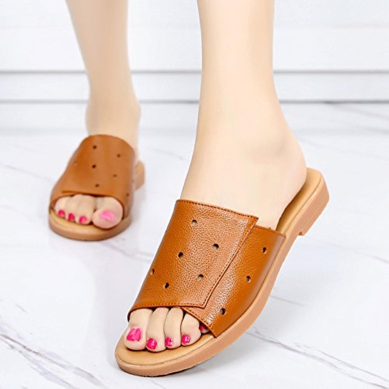 OME&QIUMEI Frauen Im Sommer Und Sommer Sandalen Und Sandaletten