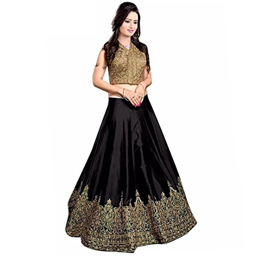 Today Best Offer Womensvilla offers Women's Lehenga Choli (VC_0011 Color: Black Free...