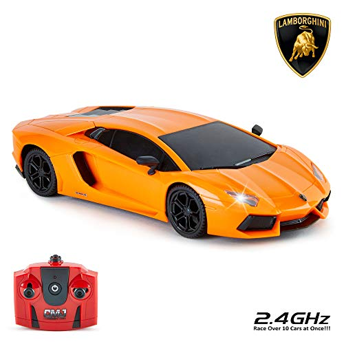 bdfb38349 CMJ RC Cars Lamborghini Aventador Official Licensed Remote Control Car for  Kids with Working Lights