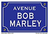 Deco-idees Sticker Plaque de Rue, BOB Marley - Autocollant de Haute qualité