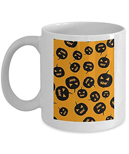 Halloween Pumpkins Party - Funny Happy Halloween Day Coffee Mug Gift Coffee Cup Mugs - Halloween Great Gifts Idea for Men, Women, Kids, Mom, Dad, Son, (Friends-halloween-party Happy Tree)