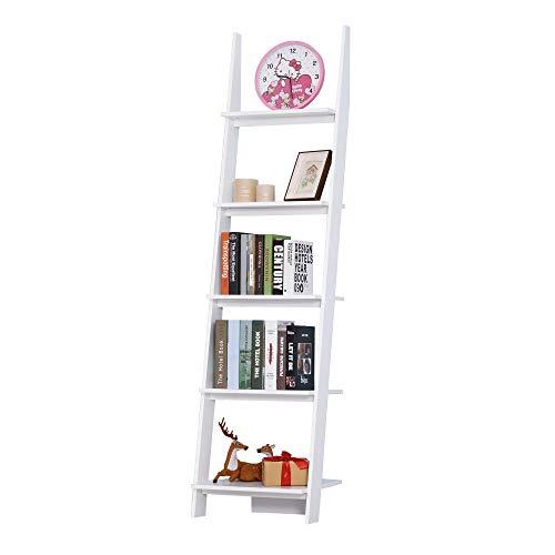 HOMCOM Estantería Escalera Librería 5 Estantes Moderna