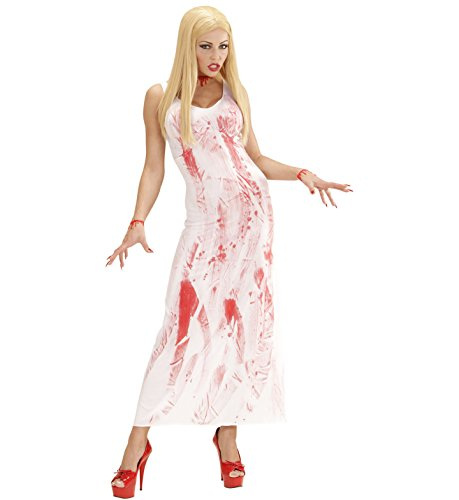 Kostüm Patienten Kleid (Widmann 00261 - Erwachsenenkostüm Bloody Mary, Kleid, Größe)