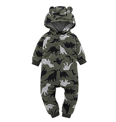Baby Strampler Jungen Mädchen Schlafanzug Baumwolle Overalls Mit Kapuze,ZEZKT 2017 0-24 Monate Baby Kleidung Säugling Spielanzug Infant Kostüm Bekleidungsset (9 Monate, (Baby-0-6 Monate Kostüme)