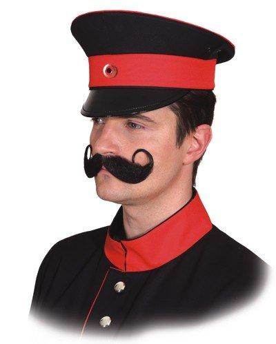 Uniformmütze, schwarz-rot - KW (Lokführer Kostüm)