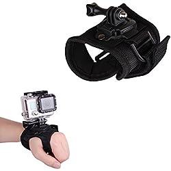Imusk Grande taille 360degrés de rotation Gant de style Wrist Band support Palm Sangle Accessoires pour GoPro Hero 5/4/3+/3/2SJCAM Xiaomi Yi 2K/4K/4K Plus Action Sport Caméras