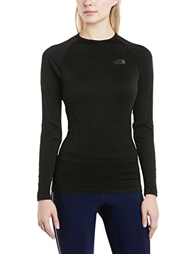 The North Face Damen Baselayer W Hybrid Long Sleeve Crew Neck, Tnf Black, M/L, T0C216 (Layer Läuft Top Base)
