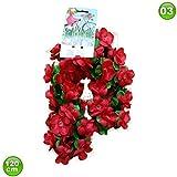 maxxi4you Fahrradgirlande Blumengirlande Blume Rottöne 120 cm