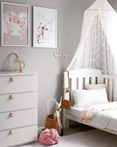 Kunmuzi Kinder Betthimmel Rund Dome, Kinderzimmer Dekoration, Baumwolle  Moskitonetz, Kids Prinzessin Play Zelten, Raum Dekoration Für Baby Weiß