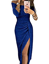 innovative design 9137d 439fd Amazon.it: abito blu - Donna: Abbigliamento