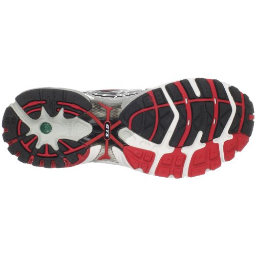 Brooks Adrenaline, Herren Sneaker Grau (Grau/Silber/Rot/Schwarz)