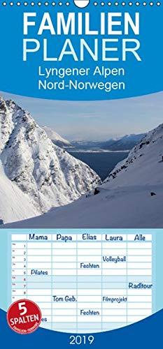 Lyngener Alpen Nord-Norwegen - Familienplaner hoch (Wandkalender 2019 , 21 cm x 45 cm, hoch): Die Lyngener Alpen im norwegischen Winter (Monatskalender, 14 Seiten ) (CALVENDO Natur)