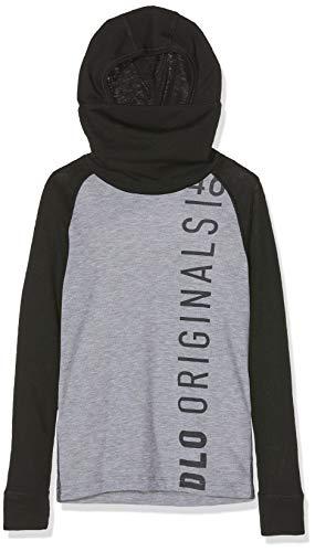 Odlo Kinder SUW TOP with Facemask l/s Active Origin Unterhemd, Black-Grey Melange, 104 | 07613361243233