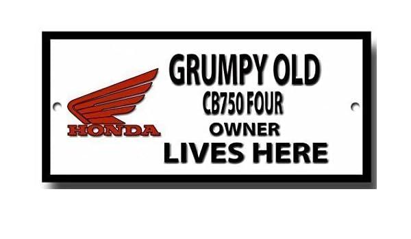 Grumpy Old Triumph Tiger 100 Owner Lives Here Qualit/ät Metall Schild