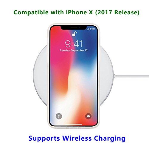 Coque iPhone X, JIAXIUFEN Silicone TPU Étui Housse Souple Antichoc Protecteur Cover Case - Noir Blanc Marbre Désign Black White
