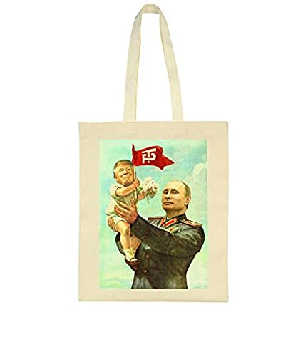 Trump And Putin Friendship Soviet Style Poster Toile Sac Fourre-tout Tote Bag
