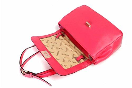 Songqee, Borsa A Tracolla Da Donna Rosso Rosa Rossa