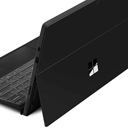 DolDer Microsoft Surface Pro 4/5/6 Skin Chrome-Soft-Silver Designfolie Sticker für Surface Pro 4/5/6 einweg schwarz