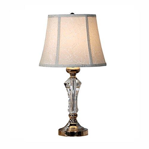 Bajo techo Lámpara de escritorio cristalina del estilo europeo, lámpara de mesa creativa moderna...