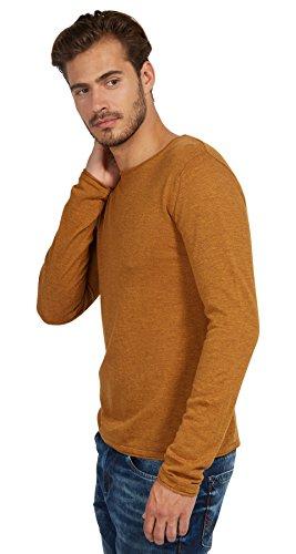 Tom Tailor für Männer knit schlichter Pullover dried mango orange melange