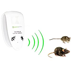 PRO PEST CONTROL - Natural Ultrasonic Rodent Repeller Controls House Pests And Keeps Family Safe | Repel Mice, Rats, Moths, Bats And More | 100% Pesticide and Exterminator FREE | Safe for Children, Dogs, Cats and Other Pets | Learn How OTHER Electronic Repellent Devices LIE TO YOU | NO Electric, Electromagnetic or Sonic Device Works Prevent Spiders, Ants, Cochroaches, Mosquitoes or Most Insects | Repelling Rodents With Proven, Guaranteed Mouse Removal and Prevention | 60 Day FREE IN HOME TRIAL