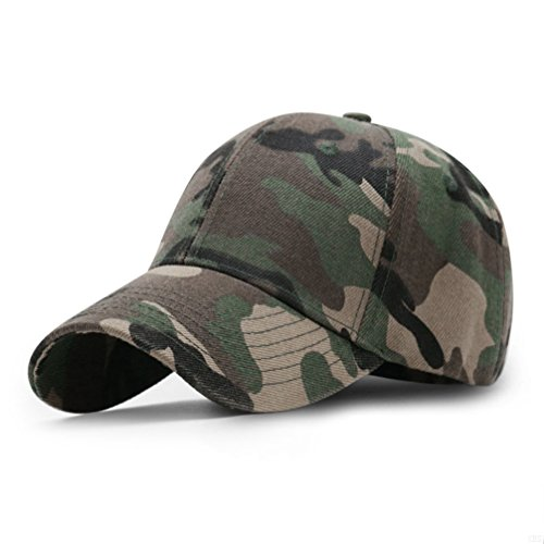 GADIEMKENSD Sport Hat Breathable Outdoor Run Cap camouflage Baseball cap Shadow Structured hat (camo Army Green) (Camouflage Crown Cap)