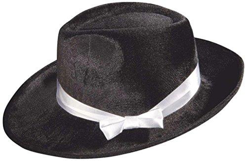 Ideen Kostüme 20er (Samt Gangster Hut schwarz)